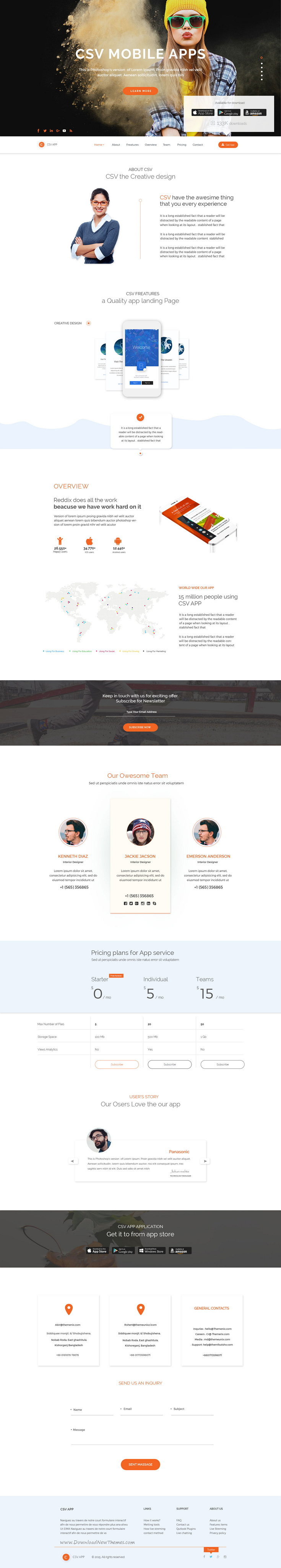 CSV App is clean look, stylish and modern trend premium PSD ...