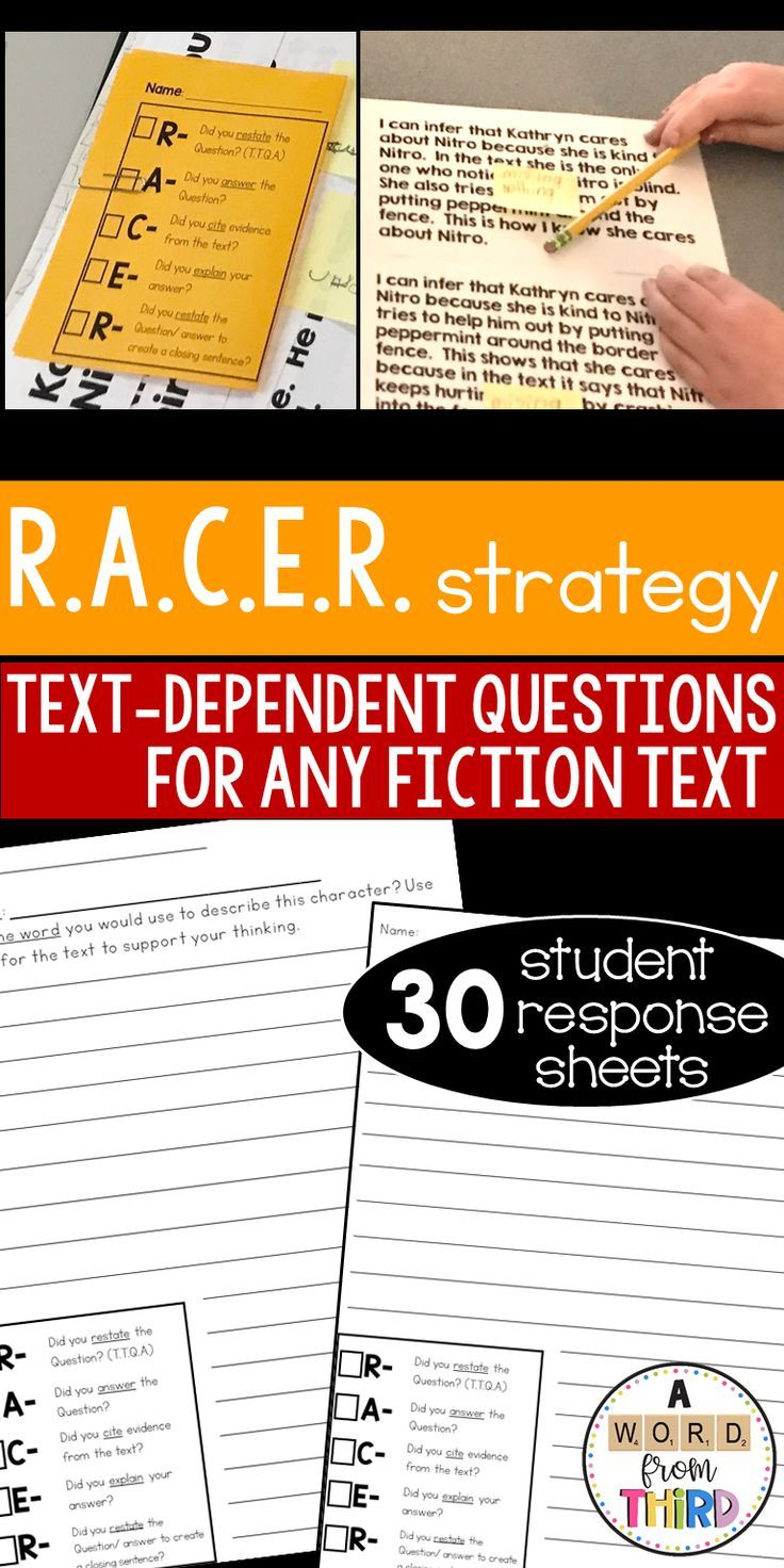 RACE or RACER strategy for Text Dependent Questions in