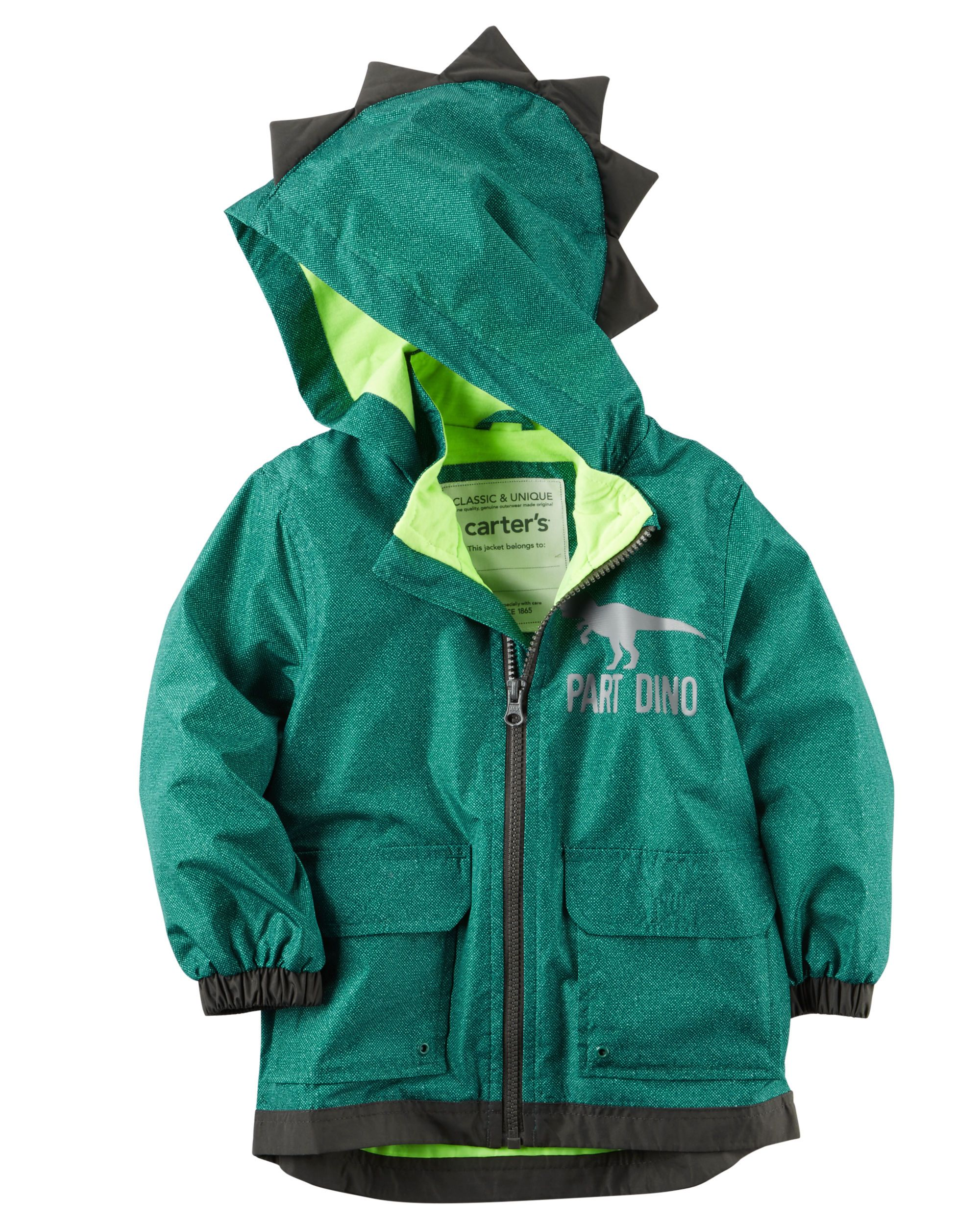 Shop Fleece Lined Dinosaur Scale Rain Slicker At