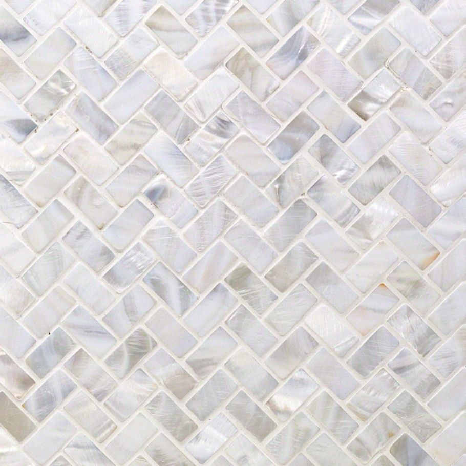 Oyster White Pearl Herringbone Tile Bathroom Amp Laundry