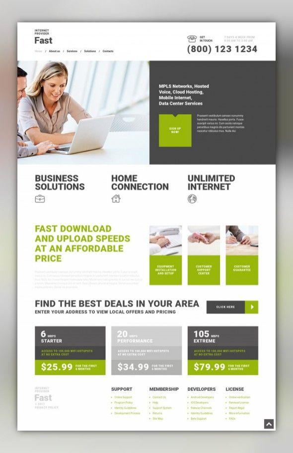 Fast Internet Provider WordPress Theme