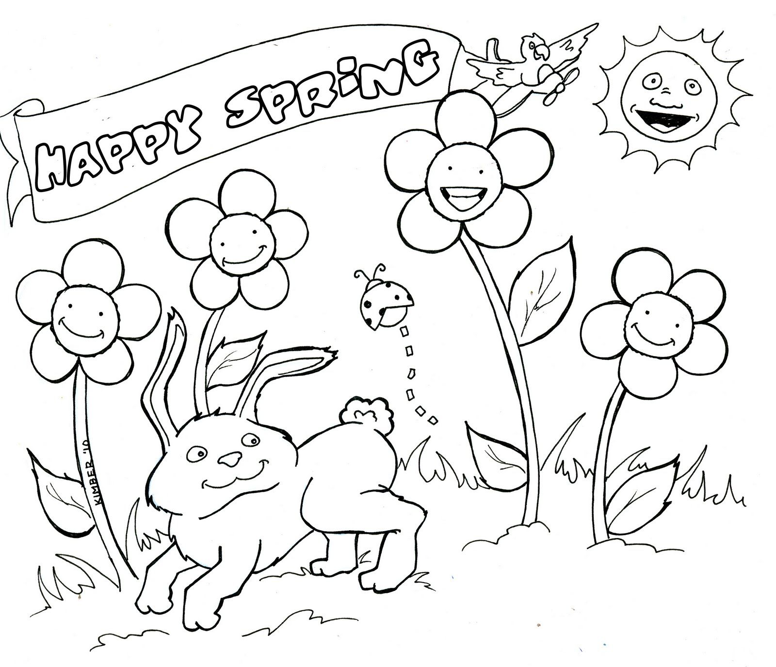Spring Coloring Sheets From Spring Coloring Pages | Young Women ...