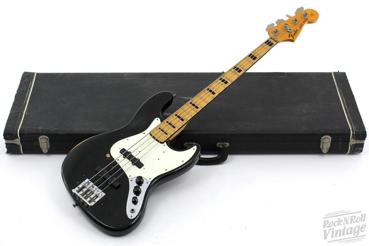 1972 Fender Jazz Bass Black Fender Jazz Bass Bass Guitar Fender Bass Guitar