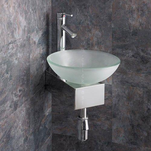 glass basin small bathroom inspiration
