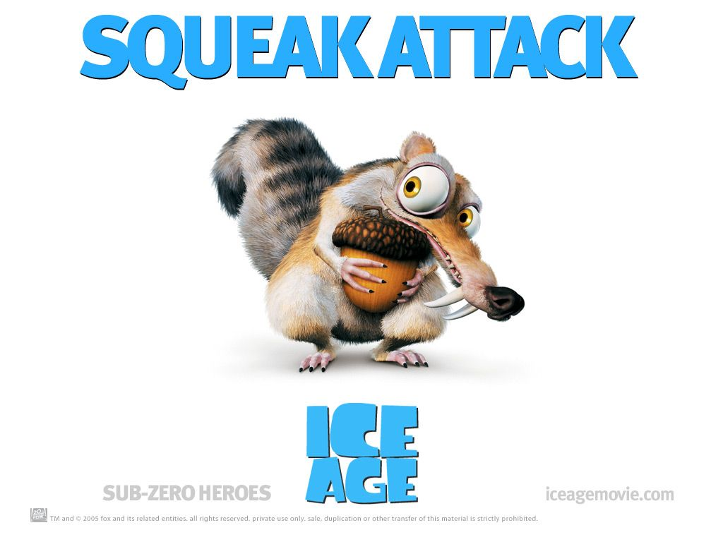 Scrat Squeak Attack from Ice Age Movie - Background Wallpaper Image ...