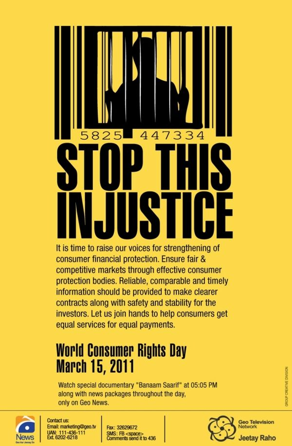 World Consumer Rights Day Creative Posters Awareness Poster Consumer Protection