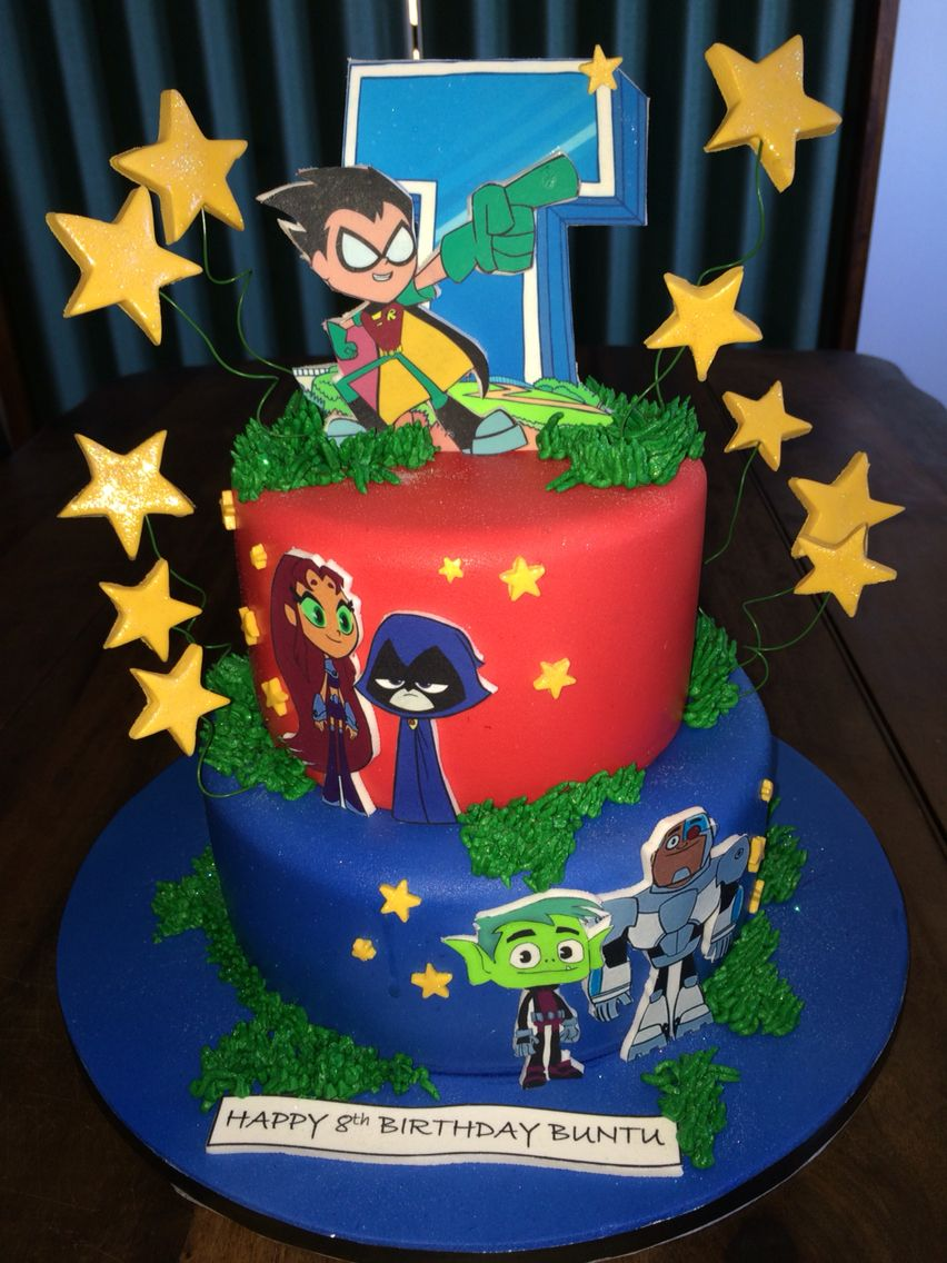 Teen Titans cake | Kids Birthday Cakes in 2019 | Jovens ...
