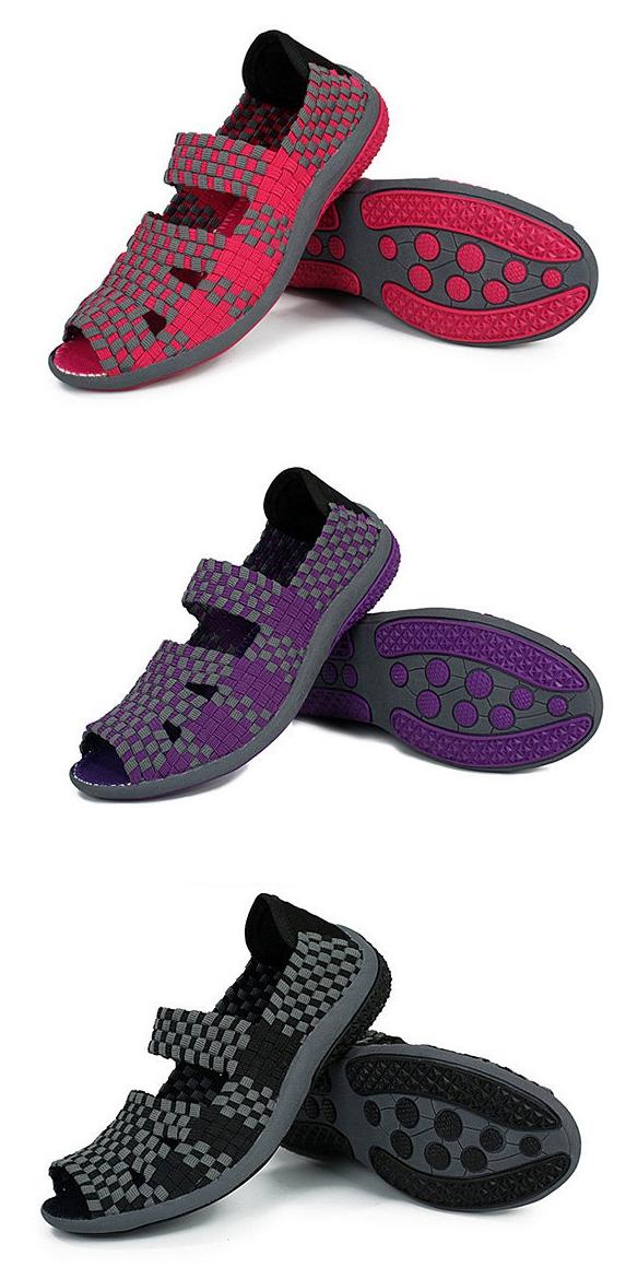 Tricoter À La Main Évider Slip Peep Toe Respirant Sur La Plate-forme Chaussures Shake m7BClPK5ah