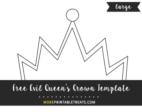 Free Evil Queenu0027s Crown Template - Large Shapes and Templates - crown template