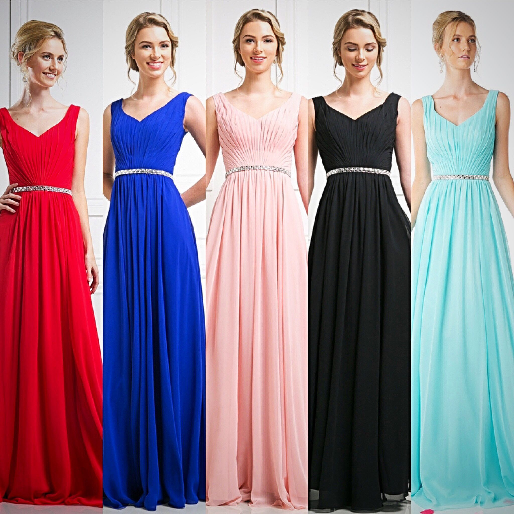 Affordable pleated classy Party Prom Bridesmaid dress in 5 colors 4 ...