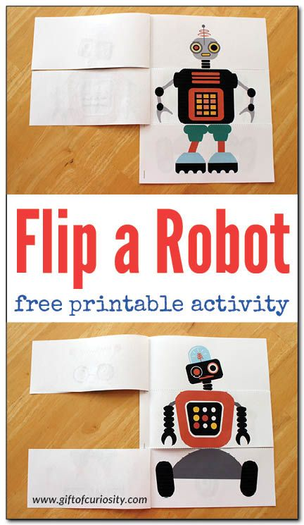 Flip a Robot {free printable activity book} - Gift of Curiosity