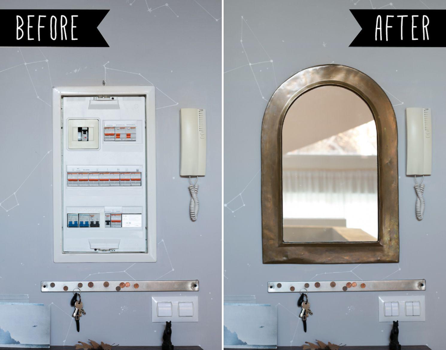 tapar el cuadro de la luz con un espejo
