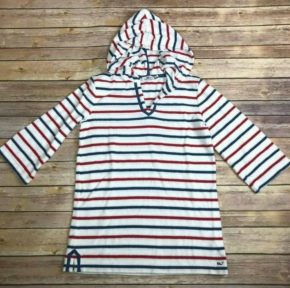 28f22bb670 Girls' VINEYARD VINES White Red Blue Striped Terry Cloth Swim Cover-Up Size  14 #fashion #clothing #shoes #accessories #kidsclothingshoesaccs ...