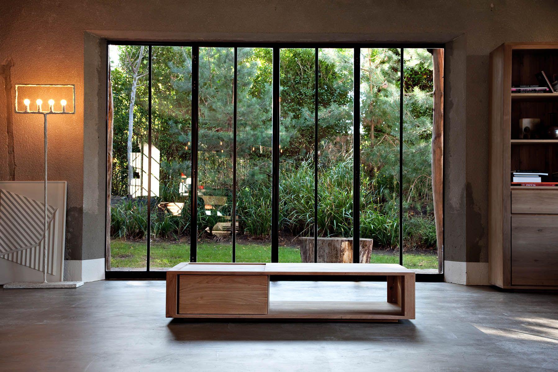 Thin Salontafel Ethnicraft : Ethnicraft oak flat coffee table couchtisch teakwoodstore