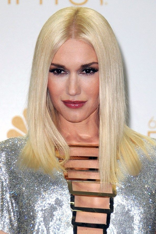 Gwen Stefani Platinum Straight Hair Affair With Hair Pinterest