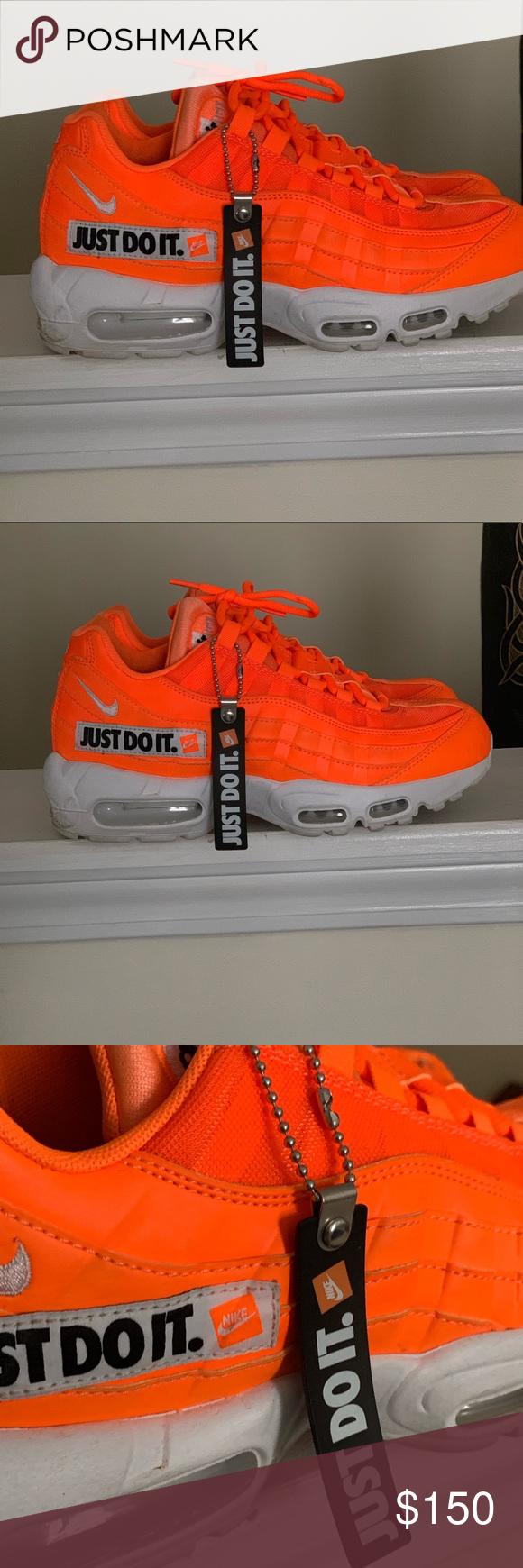 Nike Airmax 95 Just Do It Neon Orange Sneakers Orange Sneakers