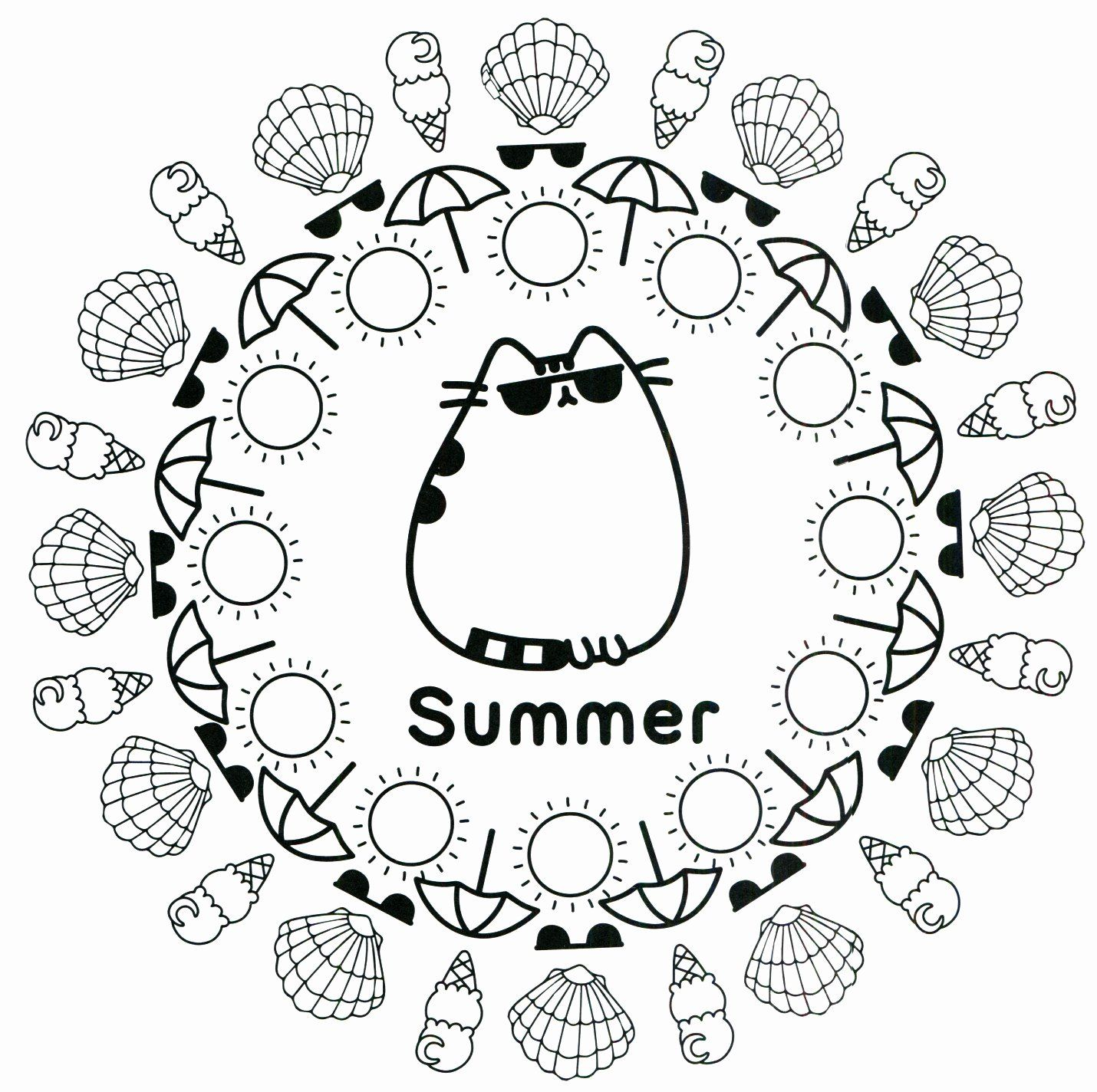 Summer Vacation Coloring Pages Beautiful Pusheen Coloring Pages Summer Summer Coloring Pages Pusheen Coloring Pages Coloring Pages For Teenagers