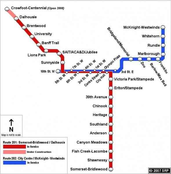 nice Calgary C Train Map Holidaymapq Pinterest Train map