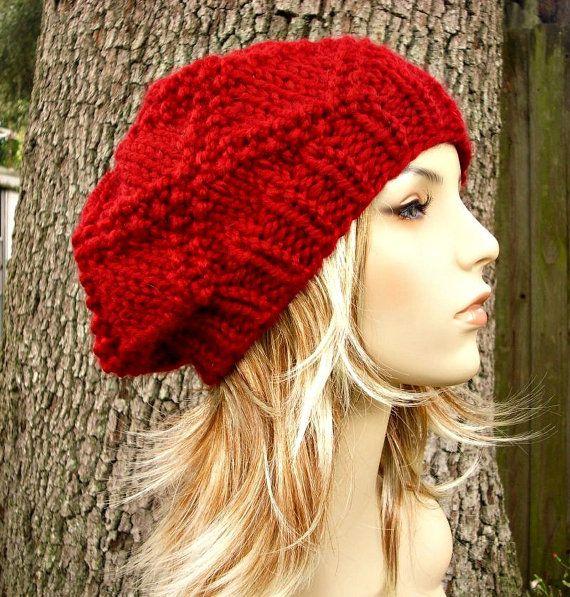 Beret Style Knit Hat Pattern Download