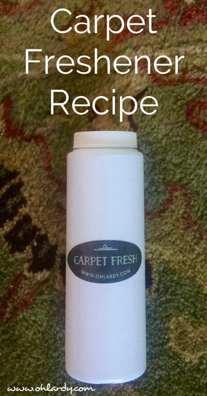 DIY Carpet Freshener Recipe