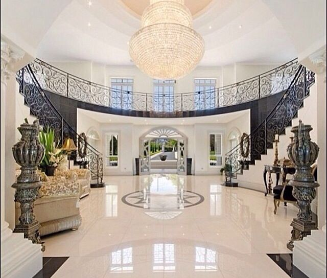 Grand Foyer Staircase: House Entrance, Home