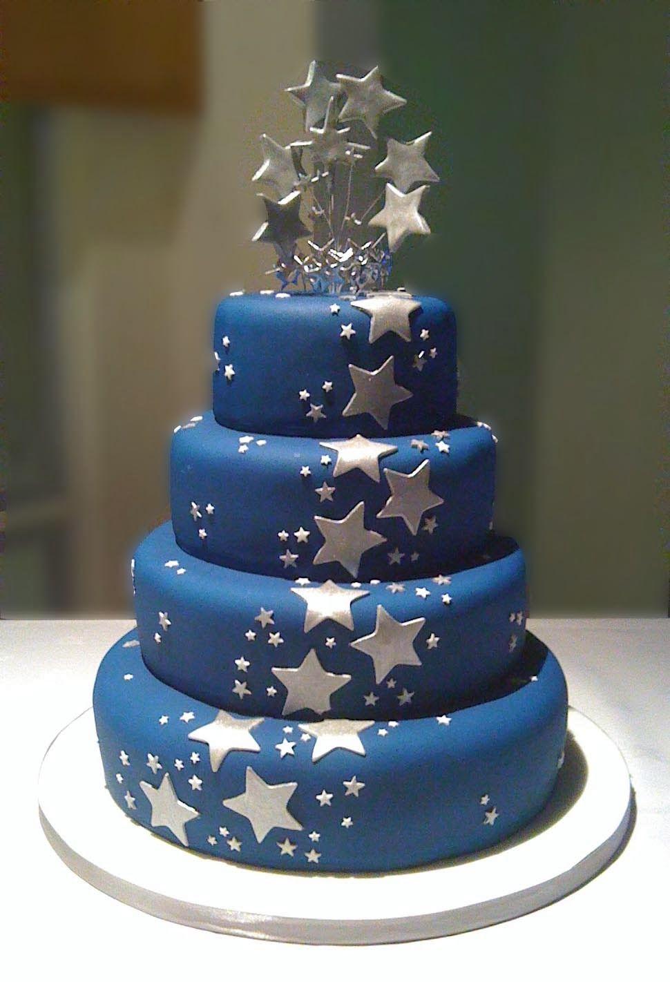 Starry Night Wedding Theme | Wedding Cake. http://simpleweddingstuff ...