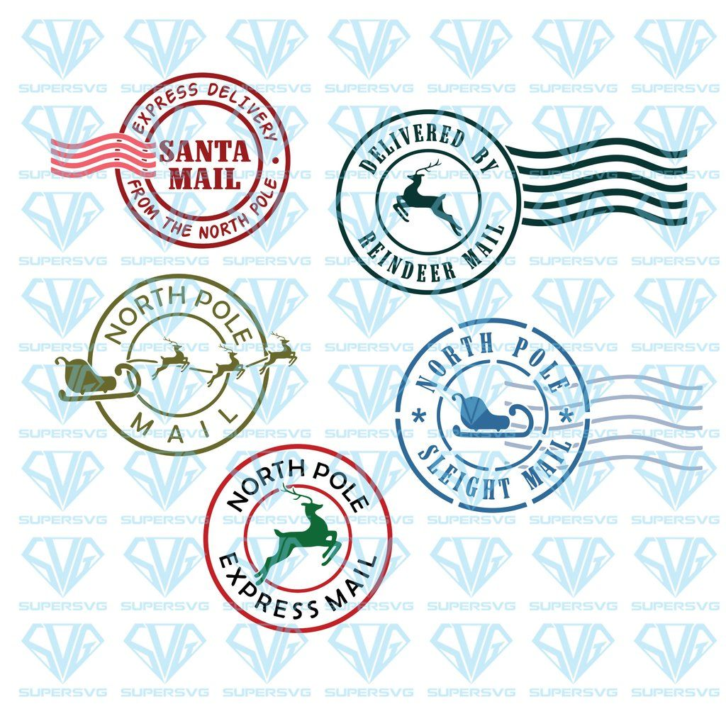 North Pole Mail Express Post Cuttable Bundle Svg Files For Silhouette Files For Cricut Svg Dxf Eps Png Instant Download Supersvg Svg Png Vinyl Sticker