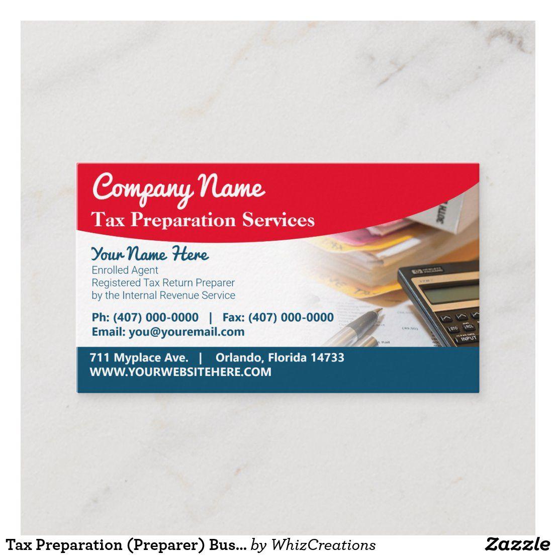 Tax Preparation Preparer Business Card Zazzle Com Tax Preparation Printing Double Sided Business Cards