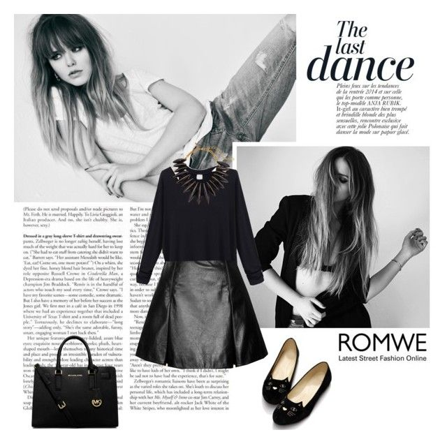 """""""Romwe"""" by preppy-patricia ❤ liked on Polyvore featuring Anja, Marc Jacobs, MICHAEL Michael Kors and Oscar de la Renta"""