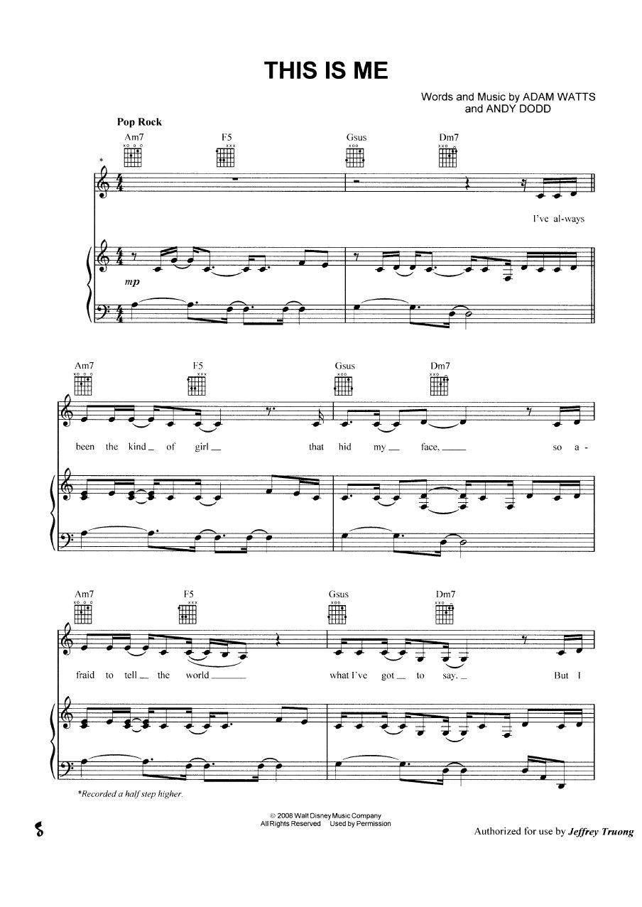 Demi lovato this is me sheet music pinterest pianos sheet demi lovato this is me hexwebz Images