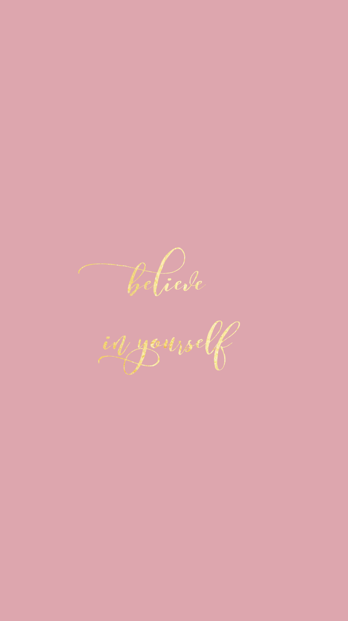 Rose Goldpretty Positivity Iphone Wallpaper At Evaland Quotes