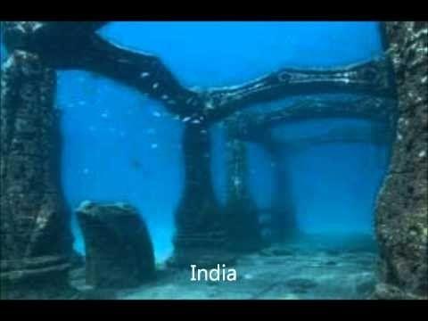 Under Water Is Sri Krishna S Old Dwarka Underwater City Sunken City Underwater Ruins