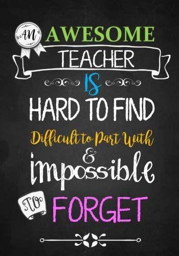Teacher Notebook: An Awesome Teacher Is  Journal Or Planner For Teacher Gift: Gr…