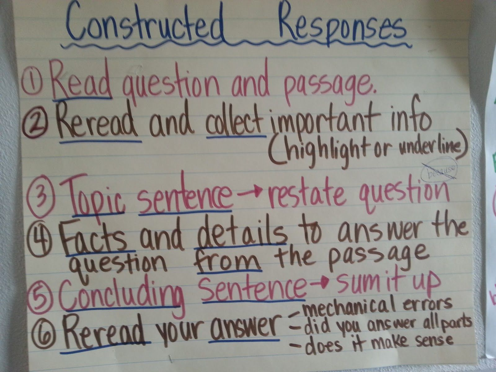 Writing Constructed Responses