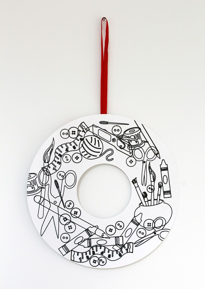 Photo of Christmas Wreath colouring in doodle   Free Christmas download   Crafts