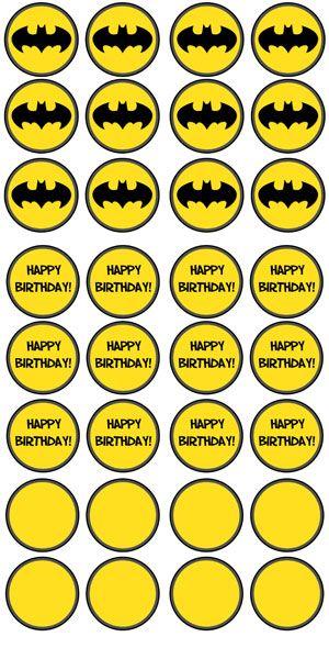 photo regarding Batman Cupcake Toppers Printable identify Absolutely free Printable Batman Cupcake Toppers - Printable Snacks