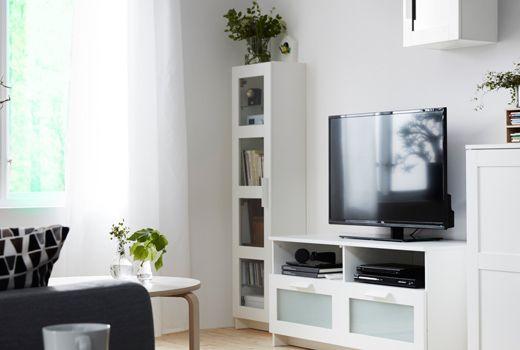 Combinazione di mobili per il soggiorno della serie BRIMNES ...