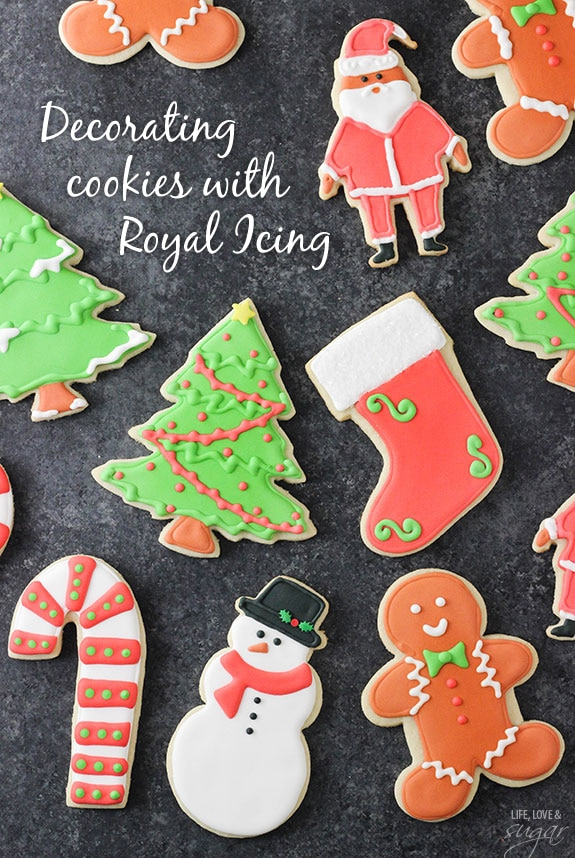 How to Decorate Cookies with Royal Icing #easyroyalicingrecipe
