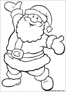 Desenhos Para Colorir E Imprimir Papai Noel Para Colorir