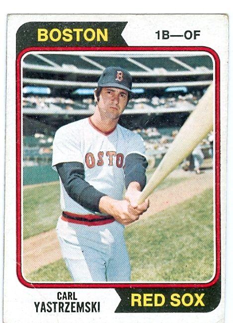 1974 Topps Baseball Cards Carl Yastrzemski Baseball Card