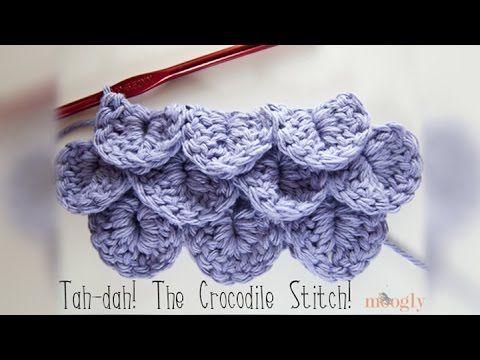 Häkeln lernen * Schuppenstich * Krokodilstich * Scale Stitch ...
