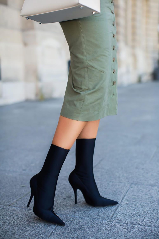 f84c1fac botin-calcetin-falda-tubo. Tendencia: botas calcetín y cómo llevarlas con  estilazo