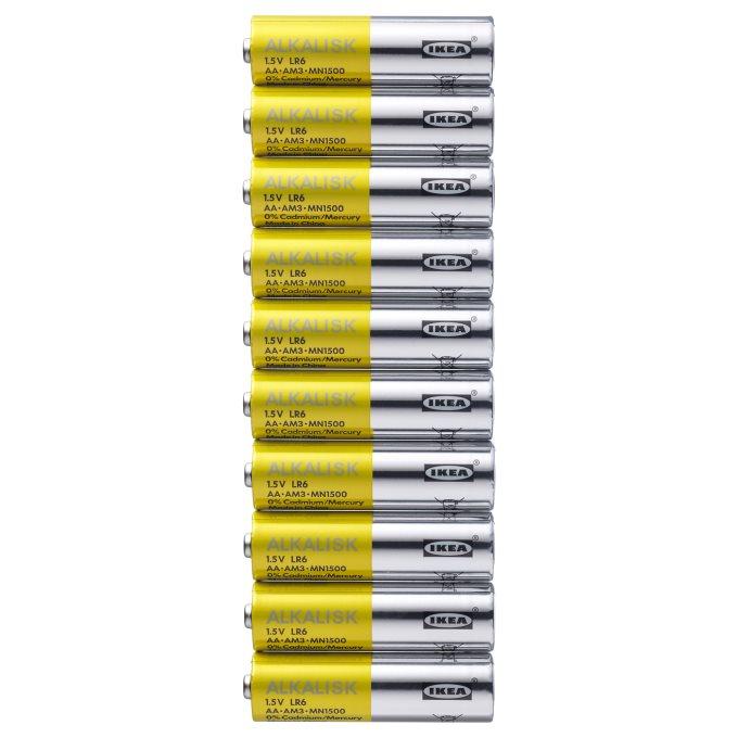 Alkalisk Alkalna Bateriya Lr6 Aa 1 5v 10 Br V K T 502 405 02 Ikea Blgariya Alkaline Battery Wall Clock Ikea Ikea