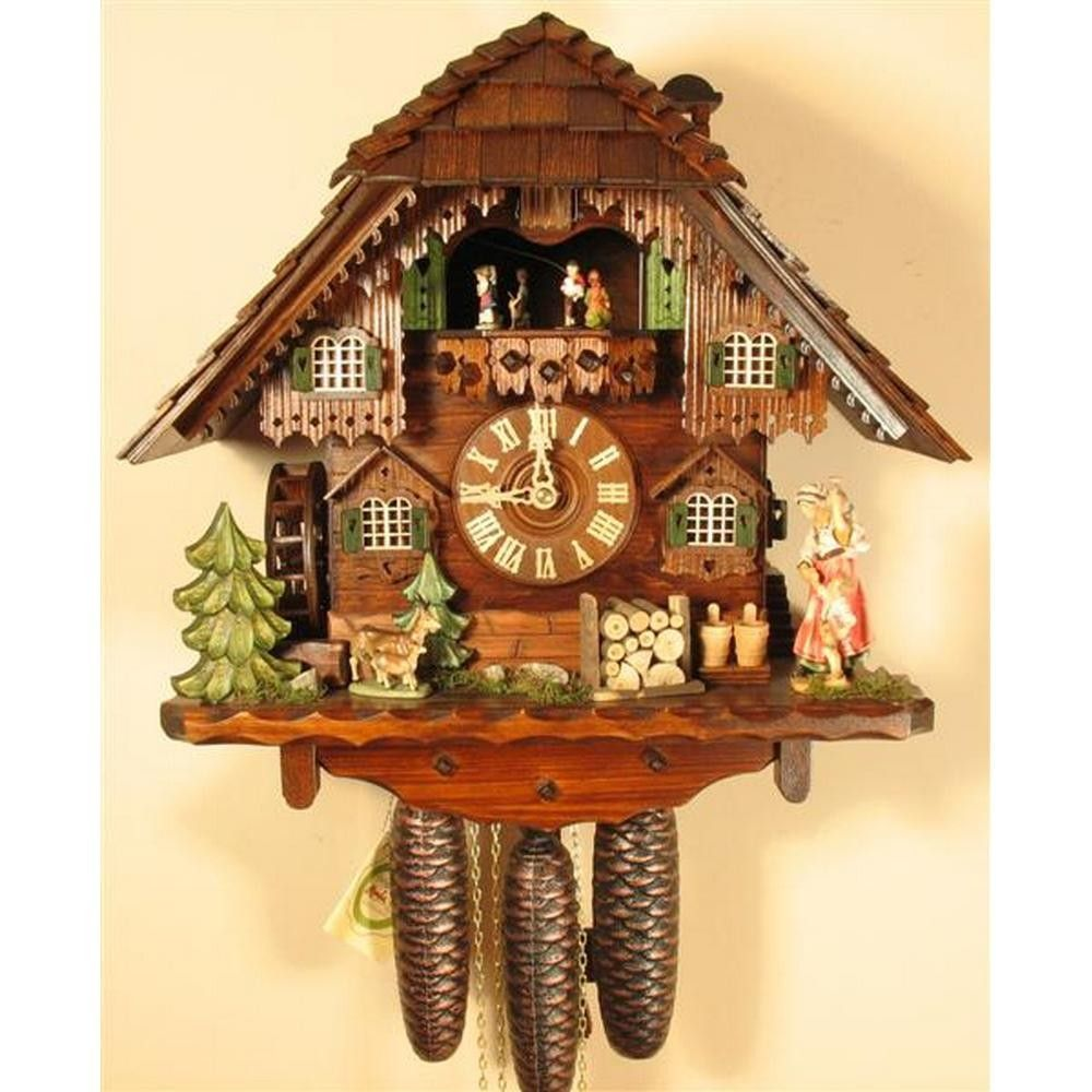Cuckoo Clock With Watergirl And 8 Day Movement 8363 With Images