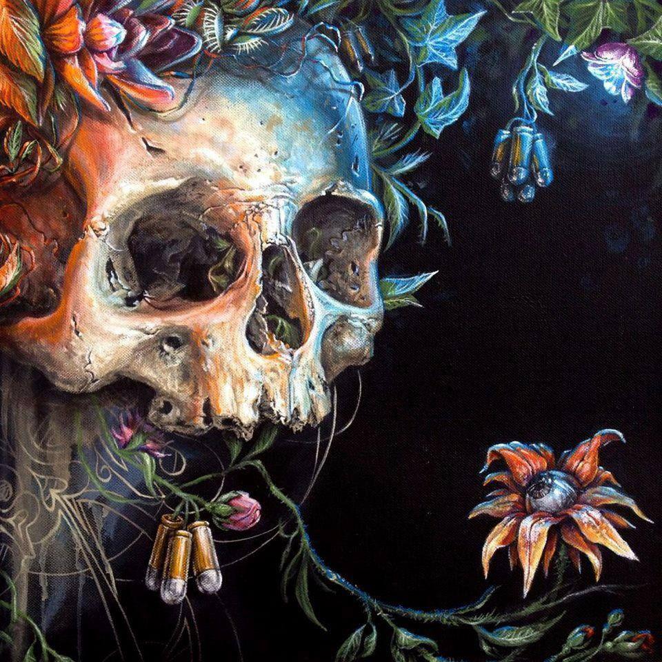 Skull art work