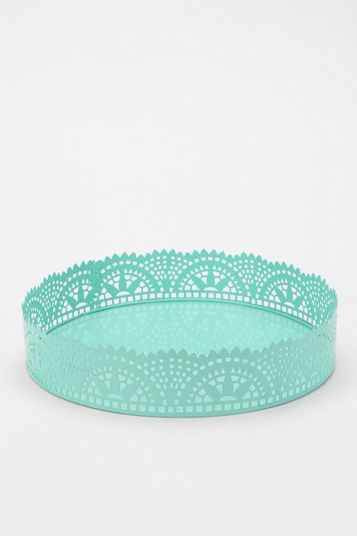 Cut lace vanity tray from urban outfitters nursery pinterest
