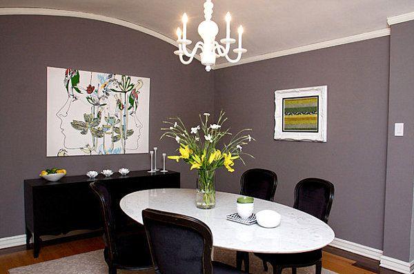 Eklektisches Interior Design Esszimmer Oval Tisch Stühle Kronleuchter