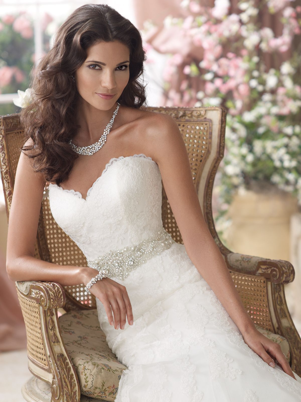 Lace Mermaid With Beaded Belt Wedding Dress- 114274 MacClare ...