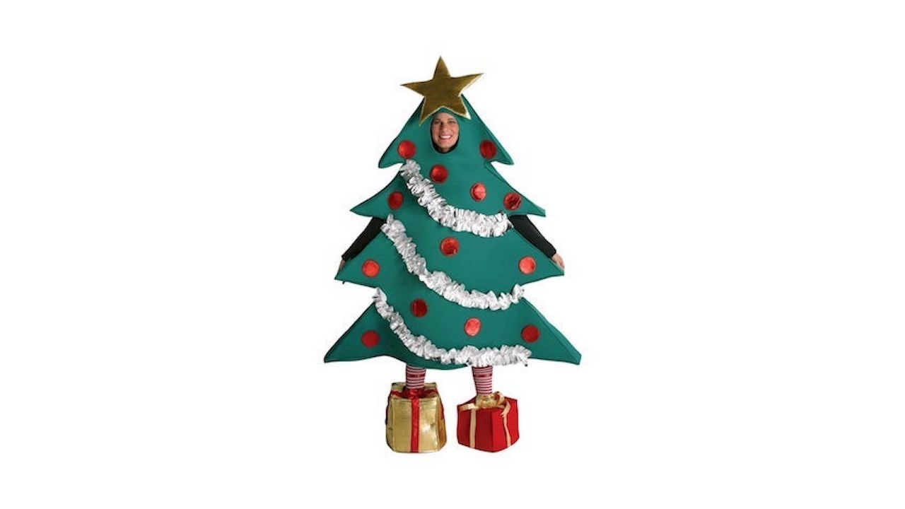 Wait Until Your Friends Who Complain About You Listening To Christmas Music Too Early See You In This Christmas Tree Costume Tree Costume Red Ball Ornaments