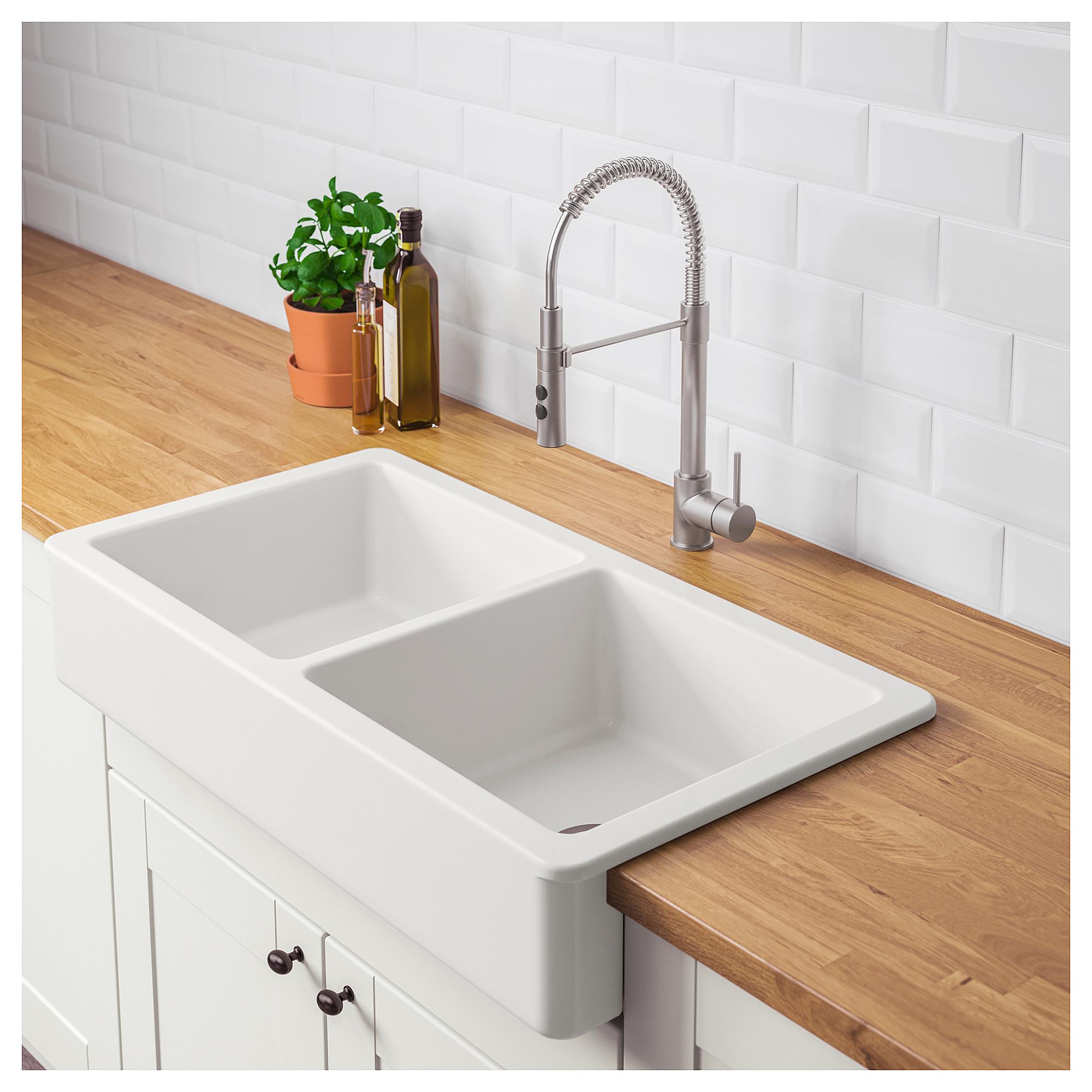 Havsen Apron Front Double Bowl Sink Ikea Double Bowl Sink